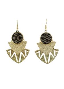 Image of Vintage metallo tagliato orecchini geometrici per le donne