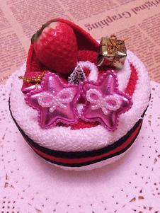 fuchsia-pu-leather-sweet-stars-print-fashion-lolita-clip-ons