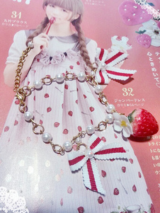 fashion-red-strawberry-pearls-pattern-lolita-bracelet
