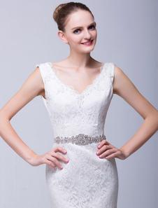 Image of Strass sposa bella ampia fascia per sposa