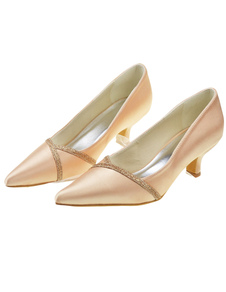 champagne-kitten-heel-pointed-toe-formal-bridal-shoes