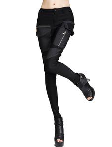 Image of Pantaloni Skinny patchwork