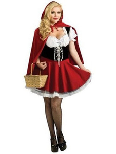 Halloween Little Red Riding Hood Costume Sexy Fairy Tale Costume Cosplay