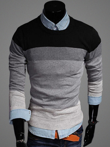 crewneck-color-block-pullover-knitwear