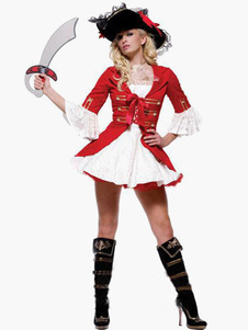 Red Women's Pirate Costume