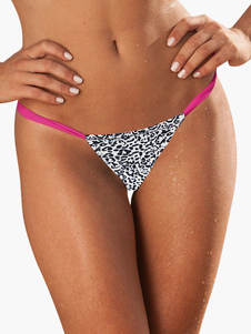 Leopard Printed Thong