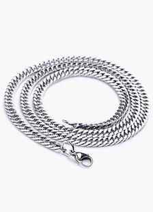 Image of Spianare la collana catena di collegamento in acciaio inox