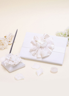wedding-guest-book-pen-with-flower
