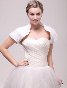 short-sleeve-ruched-bridal-shrug