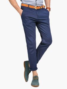 Pantalón de algodón de color sólido Pantalón corto de hombre
