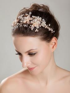 Image of Imitazione perle archetto dorato con strass