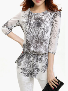 multi-color-printing-chiffon-blouse