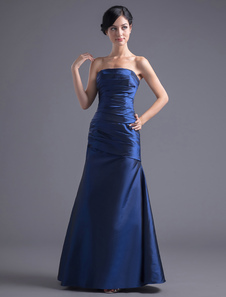 royal-blue-strapless-ruched-mermaid-prom-dress