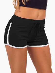 two-tone-lace-up-cotton-sports-shorts