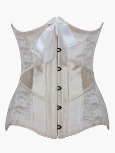 Apricot Piping Lycra Spandex Bustier