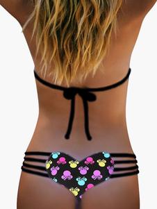 Attraktive Multi Farbe gedruckt Bikini Damen Bikini Slip