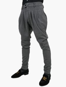 Image of Pantaloni 2018 con cavallo basso increspato da uomo stile Harem