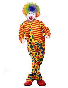 Image of Halloween Clown Costume Multicolore per Uomini Costume Cosplay per Circo