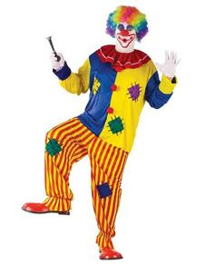 Image of Halloween Clown Costume Multicolore Maschile Circo Costume Cosplay