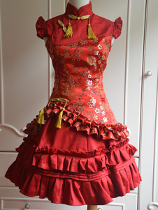 classic-red-satin-qi-lolita-dress-sleevesless-plum-blossom-print-ruffles