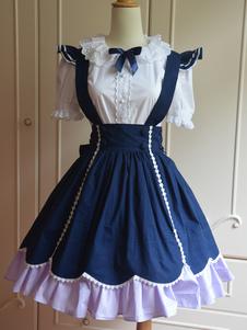 Image of Dolce blu cotone manica corta Lolita Outfit