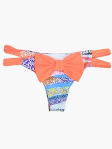 Beugt Leopard Print charmante Lycra Spandex Damen Bikini Brief