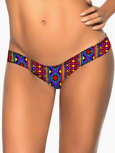 Image of Stampato Slip donna attraente Lycra Spandex Bikini Swim