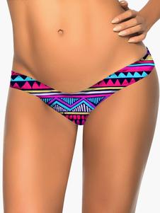 Image of Bikini donna Spandex Lycra stampata nuotare Brief