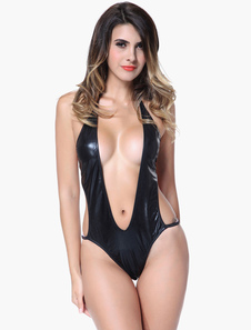 black-plunging-neckline-backless-sexy-pole-dancing-clothes-for-women