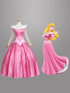Image of Carnevale Rpsa Sleeping Beauty Costume per Ragazze Costume Cosplay da Principessa  Carnevale