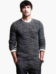 crewneck-woven-cotton-blend-men-pullover-knitwear