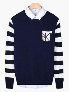 crewneck-long-sleeves-cotton-men-pullover-knitwear