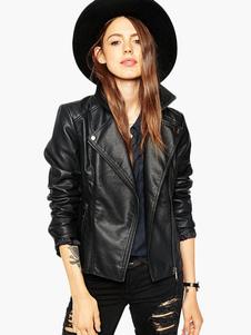 notch-collar-zipper-pu-leather-moto-jacket