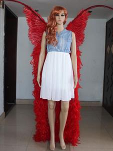 -Vestido con plumas alas para Show de Victoria  Halloween