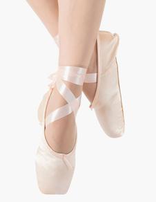 Zapatos de baile de mujer Zapatos de ballet de punta Zapatos de baile de ballet de satén