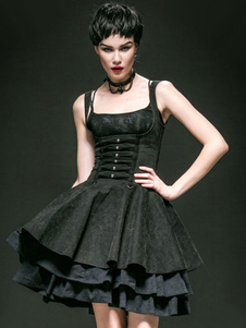 gothic-black-cotton-layered-palace-style-lolita-dress