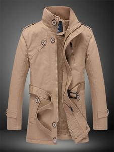 men-stand-collar-bottons-fleece-causal-belted-coat