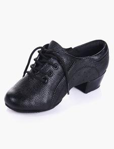 Image of Moda punta a mandorla suola morbida in pelle scarpe da ballo per bambini