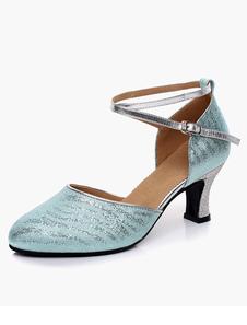Image of Caviglia suola morbida elegante cinturino in pelle mandorla Toe Ballroom