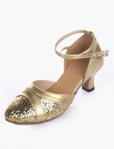 Image of Glitter suola morbida mandorla Toe scarpe da ballo