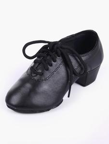 Image of Punta a mandorla morbida suola scarpe in pelle qualità sala da ballo scarpe per bambini