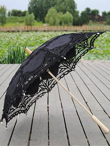 Image of Accessori del Costume nero Lolita pizzo ombrellone  Carnevale