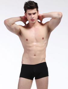 Image of Slip in cotone tinta unita degli uomini Sexy