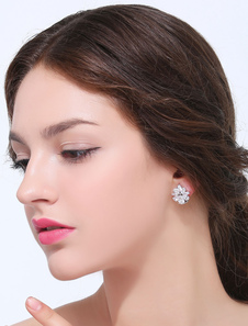 silver-geometric-zircon-marquise-metal-ear-stud