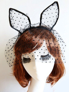 Image of Velata Cat Ear Head Band con Tulle a pois