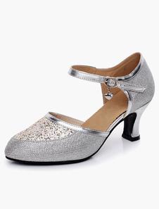 Image of Glitter caviglia Strap ballo scarpe da punta a mandorla