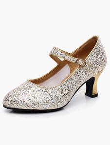 Image of Punta a mandorla Mary Jane Glitter Professional Ballroom scarpe
