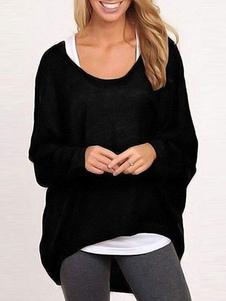 Image of Pullover alta bassa donna