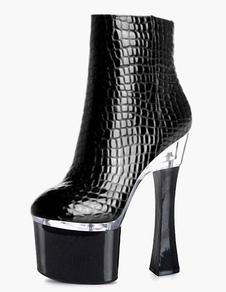 round-toe-plaform-high-heeled-booties