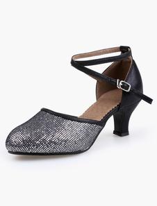 Image of Scarpe da ballo con glitter punta a mandorla